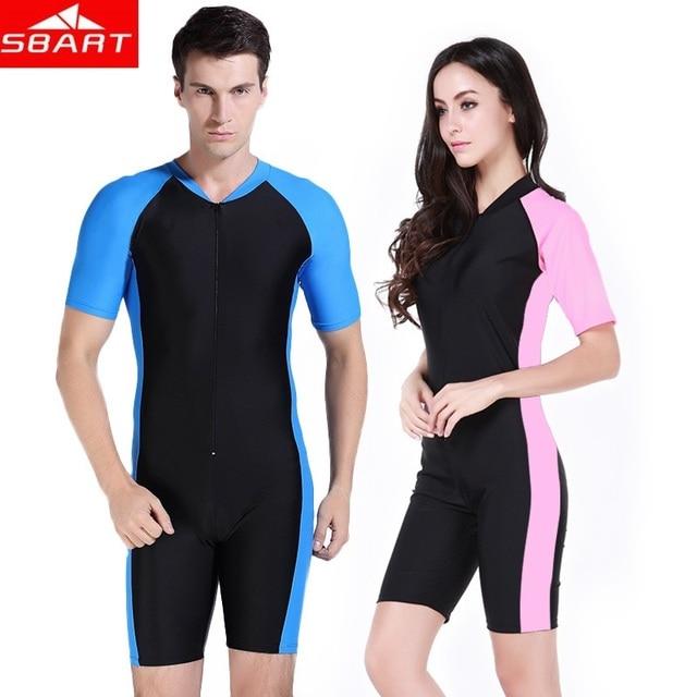 SBART Short Sleeve Swimwear Women One Piece Swimsuit Surfing Suit Women's Swimsuits Rashguard Swimming Suit For Women Wetsuit