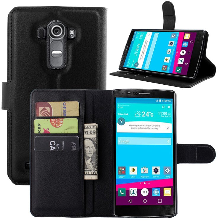 For LG G4 case cover ,New 2015 fashion luxury filp Lychee leather wallet stand phone case cover For LG G4