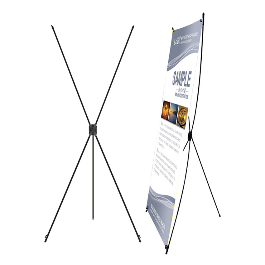 Wholesale Plastic X Banner Advertising Poster Display Popup Stands For Promotion Exhibition Trade Show Booth 200pcs