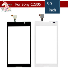 5.0 For Sony Xperia C S39H C2304 C2305 LCD Touch Screen Digitizer Sensor Outer Glass Lens Panel Replacement 10pcs lot 4 0 for sony xperia m c1904 c1905 c2004 c2005 lcd touch screen digitizer sensor outer glass lens panel replacement