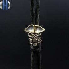 Pirate Skull Knife Beads DIY Umbrella Rope Flashlight EDC Pendant