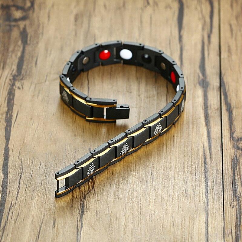 Bracelet magnétique Viking noir 6