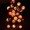 2.5 M 20 Bolas de Luz Tecido de Algodão Corda Bola De Algodão de Fadas Luzes Do Feriado de Casamento Festa Em Casa Crianças Decoração do Quarto Da Lâmpada lâmpada