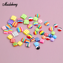 100pcs/200pcs Resin No Hole Charms Beads Flat Surface Rainbow Flag Slime Crystal Mud Filler DIY Decoration Gifts Jewelry Making no 200pcs diy rb 1