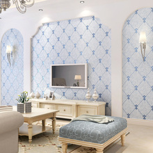 цена на Q QIHANG European - style 3D Non-woven TV Background Wallpaper 10M*0.53M=5.3M2