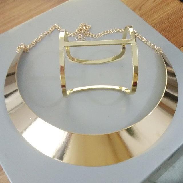 Women Gold Plated Statement Jewelry Set