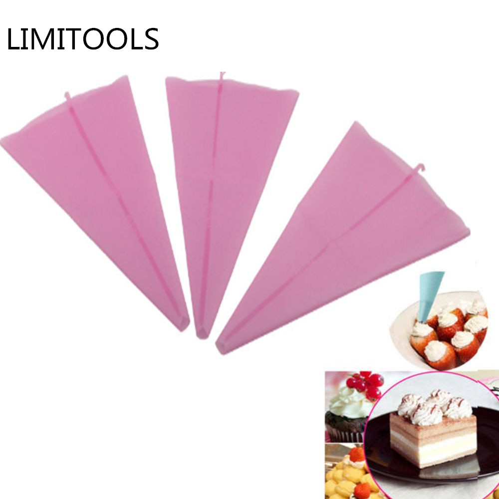 LINSBAYWU 1 pc Reusable Icing Piping Cream Pastry Bag Silicone Kitchen Cake DIY Decorating Tool