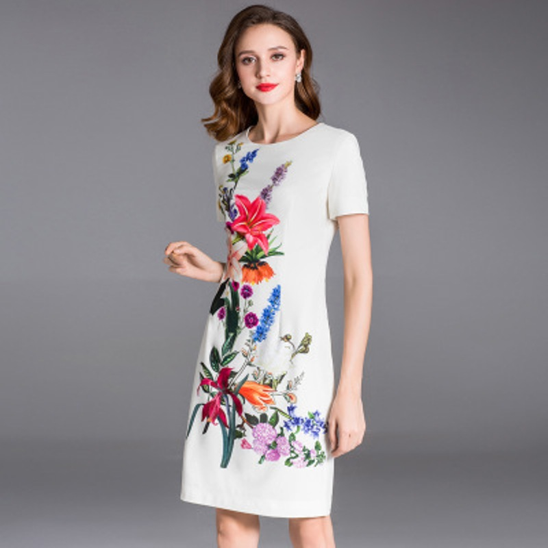 Office lady pencil dress 2018 NEW Superior quality Spring summer women elegant sexy Party Dress white