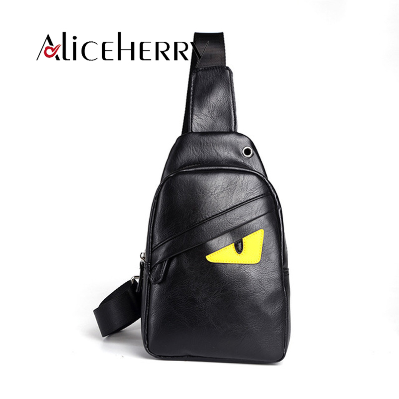 Fashion Handbag Pu Leather Popular Men Chest packs casual travel Bag one eyes shoulder bags