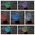 RGB toque LEVOU Lâmpada de Mesa Azeitonas Bola cap U Capacete crianças Quarto 7 Cores 3D Luz Da Noite do Dia Dos Namorados Aniversário presente