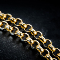 New Arrival Solid AU750 Yellow Gold Cable Chain Necklace Heavy gold Necklace