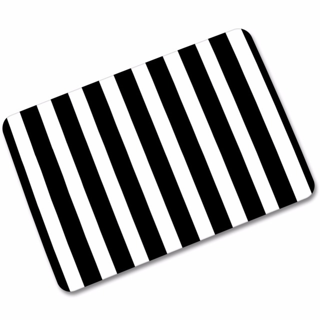Bon MDCT 40x60cm Black White Chevron Striped Welcome Door Mats Floormats Arts  Bathroom Kitchen Floor Mats Area