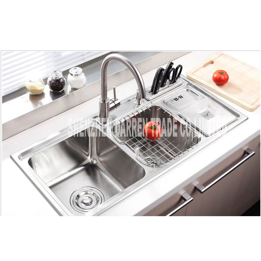 Triple Kitchen Sink Island Countertops 91 43 21cm Topmount Bowl Undermount Stainless Steel Sinks Pull Out Faucet L003 On Aliexpress Com Alibaba