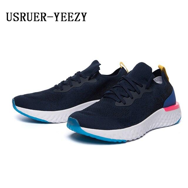 502da8461a7 USRUER-YEEZY run men sports shoes tennis air shoes barefoot sneakers womens  running shoes 350 boost Outdoor light walking