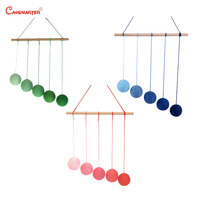 Montessori Infant Mobiles Gobbi DIY Visual Practice Newborn Baby Gradient Color Paste Ball Hanging Visual Dancer Pendents C002 3