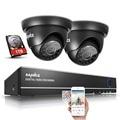 4em1 sannce 4ch 720 p cctv sistema de segurança dvr kit de vigilância de vídeo sistema de câmera de segurança em casa de 4 canais 1 tb unidade de disco rígido