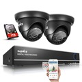 SANNCE 4CH 720P CCTV Security System 4IN1 DVR Home Security Camera System 4 channels Video Surveillance kit 1TB Hard Drive