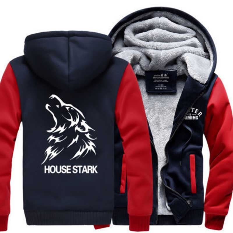 Game of Thrones House Stark Mens Boys Sweatshirt Winter Thicken Men Hoodies Sportwear