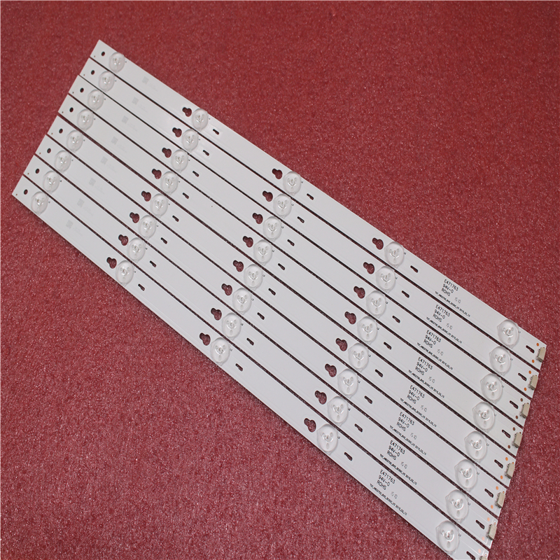 2set=16pieces For TCL B48A558U D48A810 Strip TOT-48D2700-8X5-3030C-V3 YHA-4C-LB4805-YHEX2 TCL D48A810