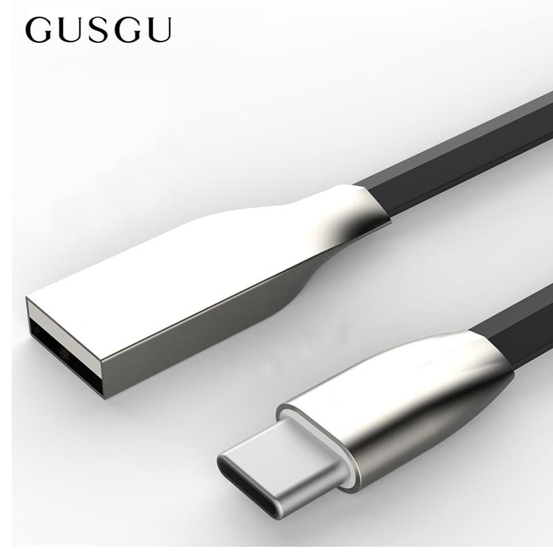 GUSGU C-Cable Macbook/xiaomi Letv/oneplus Original for Data-Transmission-Type-C Zinc-Alloy