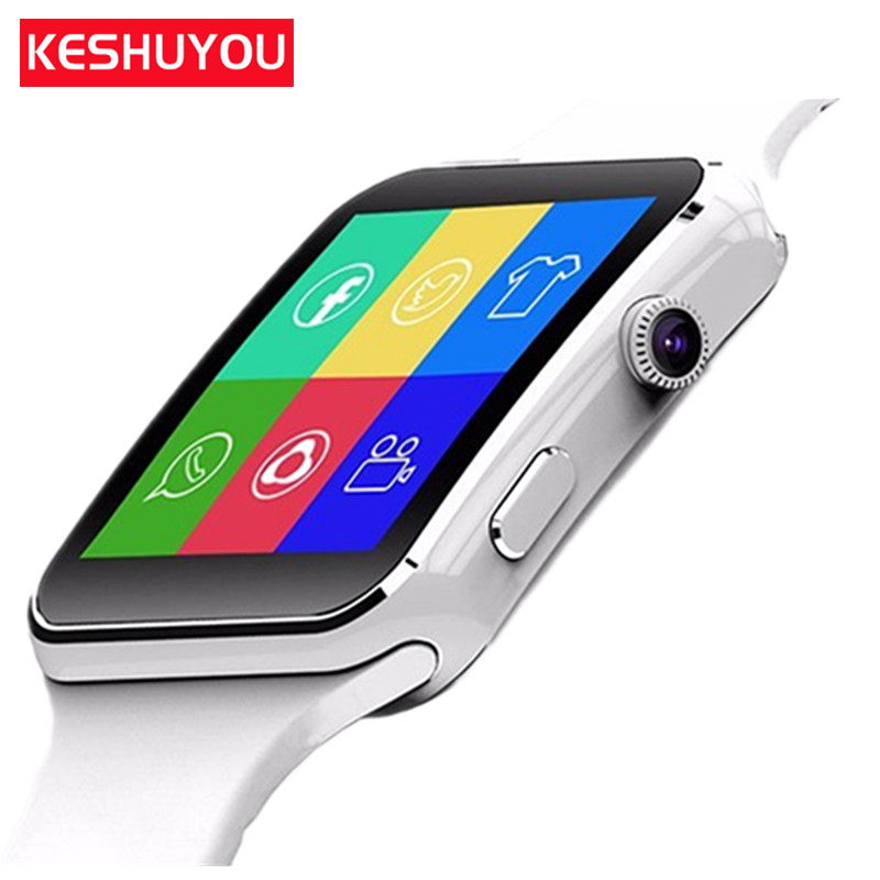KESHUYOU X6 bracelet smart watches bluetooth  android smartwatch 2017 damen electronic sim card available gear smart wacht phone