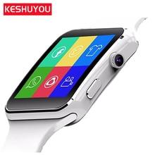 KESHUYOU X6 bracelet smart watches bluetooth android smartwatch 2017 damen electronic sim card available gear smart