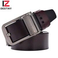 DESTINY Genuine Leather Belt Men Luxury Brand Famous Designers High Quality Ceinture Homme Pin Buckle Wide