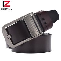 DESTINY Genuine Leather Belt Men Luxury Brand Famous Designers High Quality Ceinture Homme Pin Buckle Wide