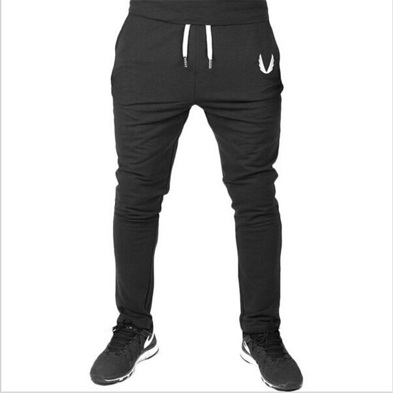 a896496b376 Men GASP GOLDS Sports Gym Pants Casual Elastic cotton Mens Fitness Workout  Pants skinny