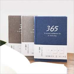 Изысканный 365 дней ткань тетрадь 32 к путешествия план книга график работы Примечание блокнот бухгалтерская книга 196 страниц