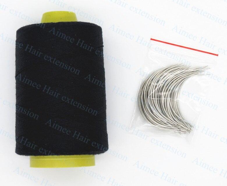 Envío libre 1 Unidades aguja de tejer del pelo + Hilos Set (50 unids ...