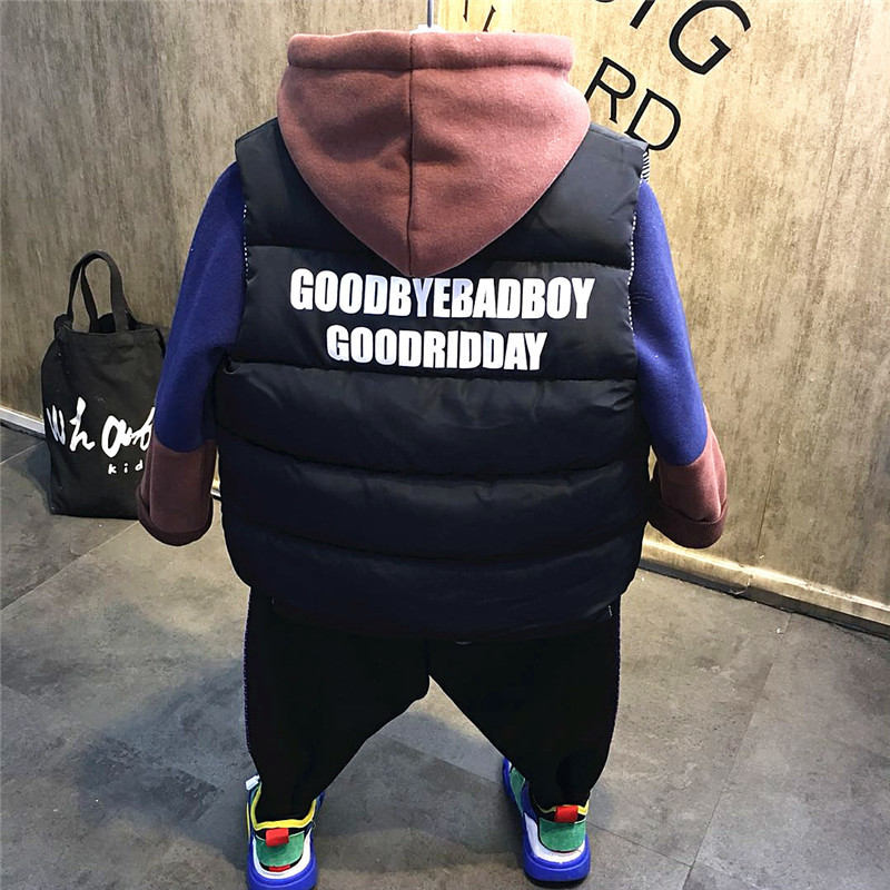 3pcs boys Christmas outfit kids thanksgiving clothing set baby causal jacket patchwork hoodie and velvet pant set children 2 7T-in Clothing Sets from Mother & Kids    3