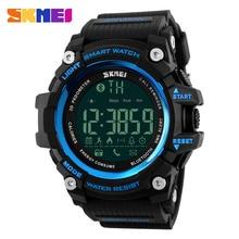 SKMEI Men font b Smartwatches b font Pedometer Calories Counter Fashion Digital Watch Chronograph LED Display