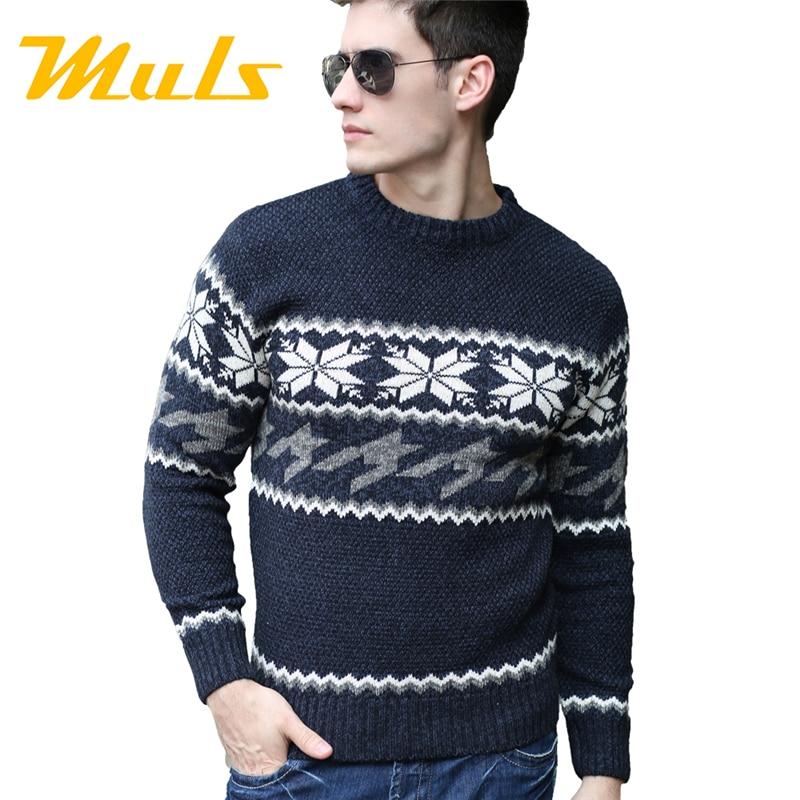 Casual Men Sweater Brand Sueter Winter Ugly Christmas Deer Merino