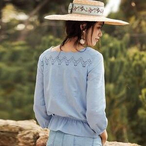 Image 2 - INMANฤดูใบไม้ผลิดอกไม้ออกแบบเสื้อผู้หญิงเสื้อผู้หญิงเสื้อผู้หญิง