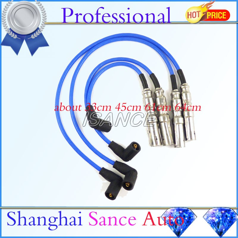 Isance Spark Plug Ignition Wires 27588 For Vw Beetle Bora Golf Jetta City 2 0l 2001 2002 2003