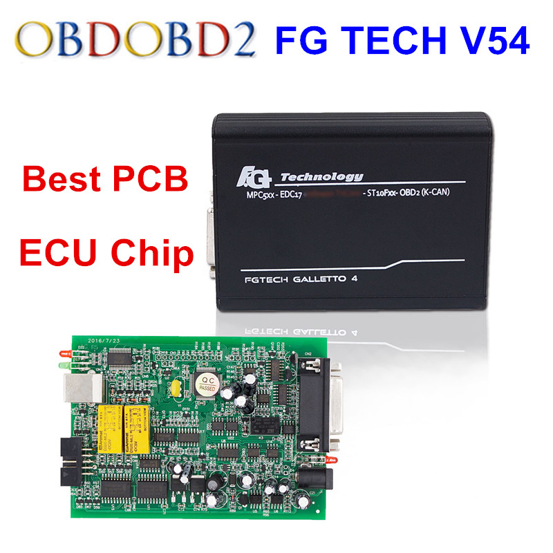 Newest FGTech V54 Galletto 4 EU 0475 Master Support BDM Full Function Fg Tech V54 Auto ECU Chip Tuning OBD FG-TECH Free Ship dhl free fgtech galetto 4 master ecu chip tuning tool newest version fg tech v54 bdm tricore with compass as gift