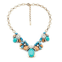 Azul resina GEM insectos lindo declaración collar nueva moda vintage collar de mujer collares