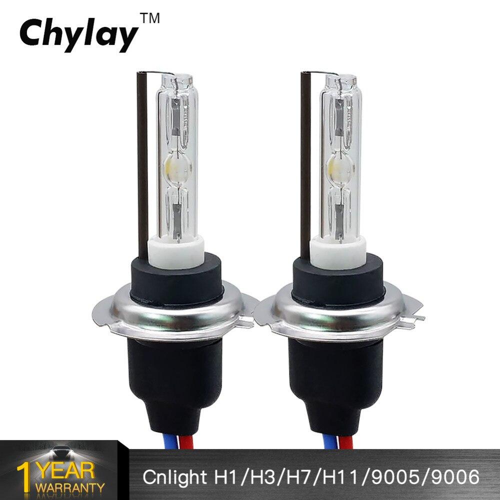 2 pcs H1 H3 H11 9005 9006 AC 55 w remplacement Ampoule auto phare 6000 k Voiture H7 CNLIGHT HID xenon lampe en céramique métal base cnlight