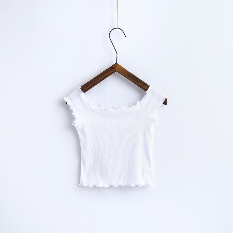 HTB1WNl4OVXXXXc2apXXq6xXFXXX0 - Striped Knitted Off Shoulder Slash Neck Short Sleeve T Shirt PTC 27