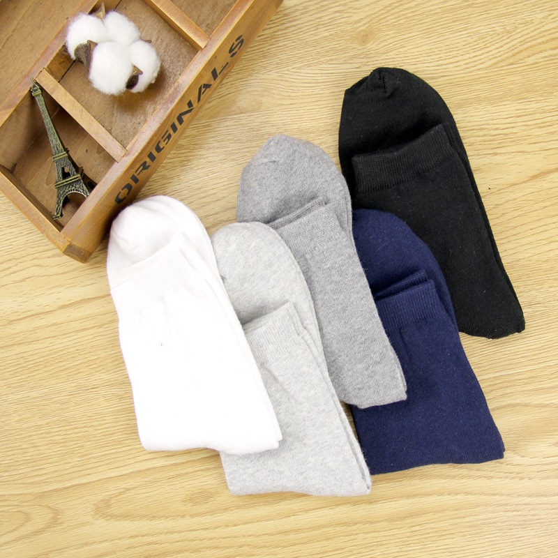 Vento colégio Simples Básico Fresco Meias Masculinas Sólidos Quente Confortável Primavera E Outono Quente Venda de meias de Algodão