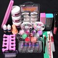 FashionStory Pro 24 in 1 Acrylic Nail Art Tips Liquid Buffer Glitter Deco Tools Full Kit Set dr20