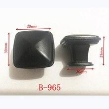 Цинковый сплав, черный цвет, для шкафов ручки американский стиль для двери кухонного шкафа ручки для выдвижных ящиков модная мебель ручка B-965