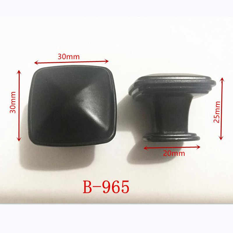 Zinc Alloy Black Cabinet Handles American style Kitchen Cupboard Door Pulls Drawer Knobs Fashion Furniture Handle B-965