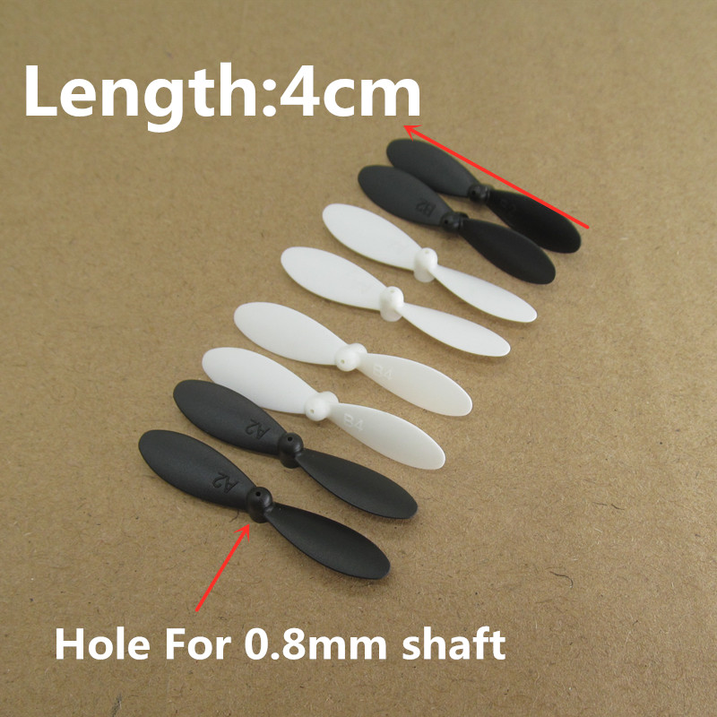 Free Shipping 4.0*0.8cm 4cm 40mm Length 0.8mm Hole Main Blades Props Propellers For R/C Spare Parts Helicopter Quadcopter Access
