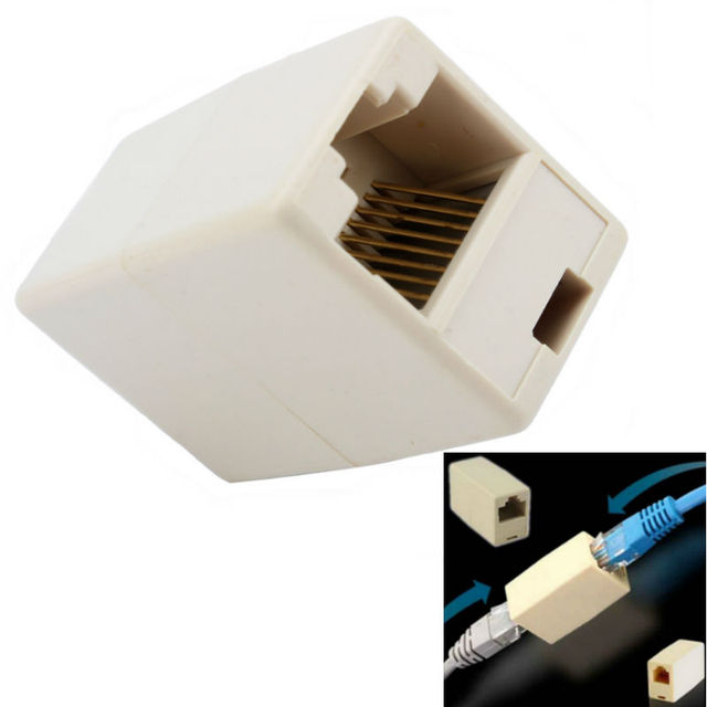 Cable Rj45 Adapter Network Ethernet Lan Coupler Connector