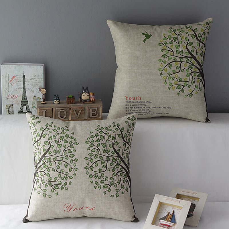 Gentler Perfect Mordern Cushions Home Decor New Fashion Birds Home Room Decors Car Back Cushion Almofada Cojines Kussens