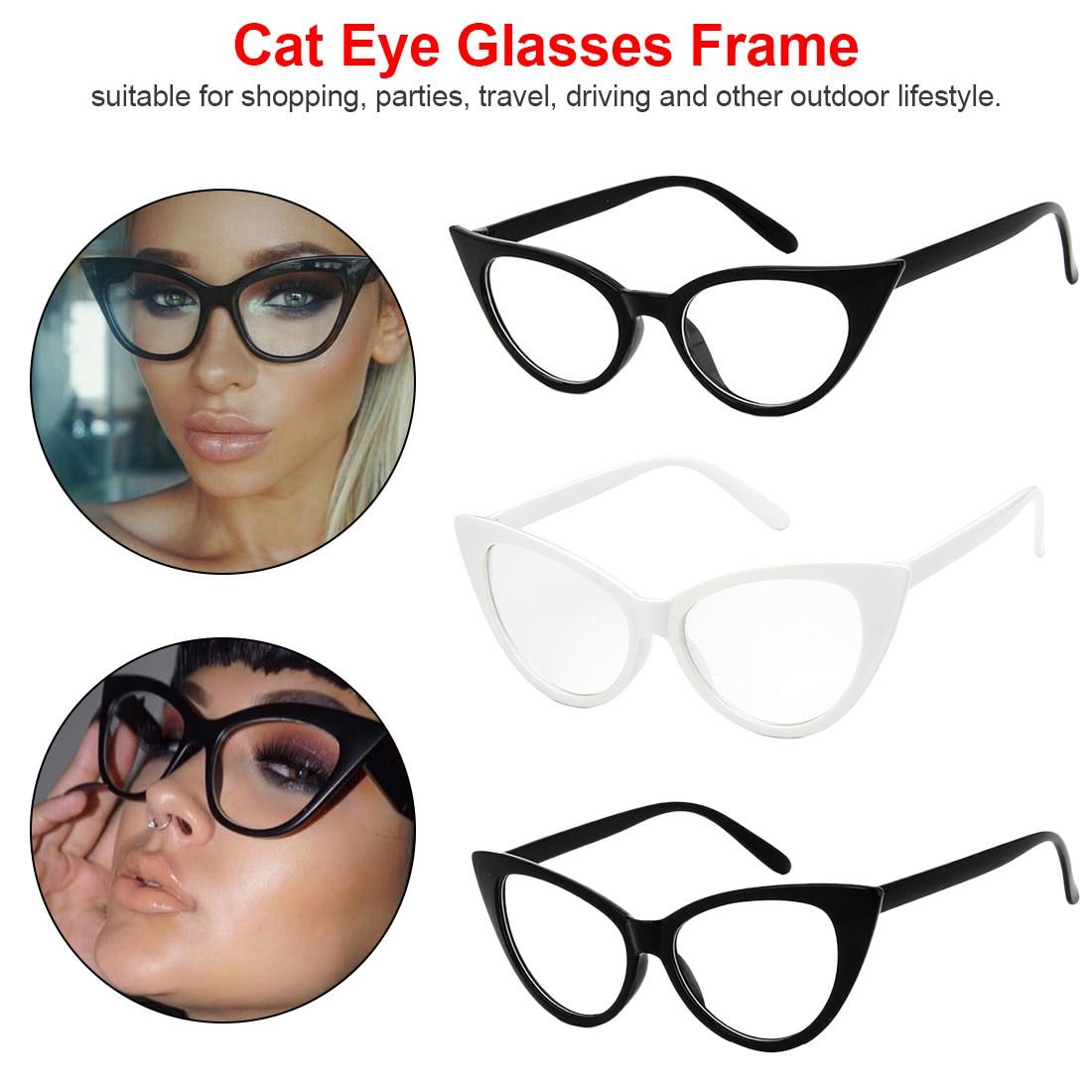 1 Pcs Klassische Elegante Gläser Rahmen Cat Eye Männer Frauen Brillen Vintage Design-student Gläser Klare Linse Plain Brillen