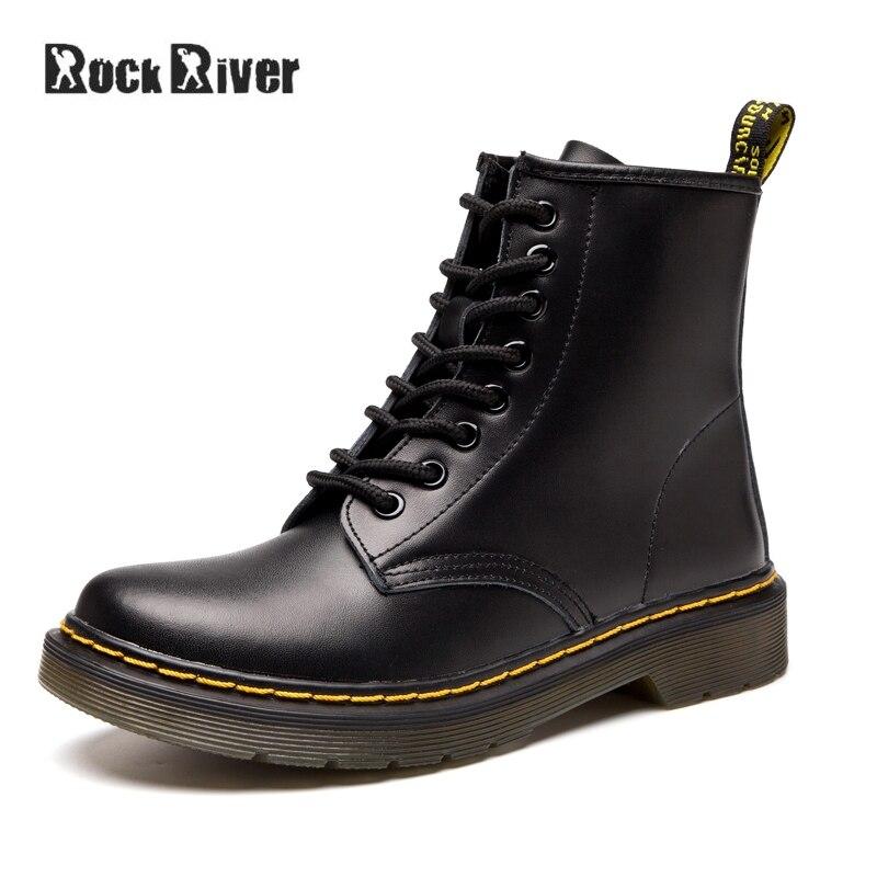 Унисекс, высокое качество, непромокаемые осенне-зимние ботинки, мужские черные ботинки martin, кожаные ботинки, мужская обувь Dr Martins, большие ра...