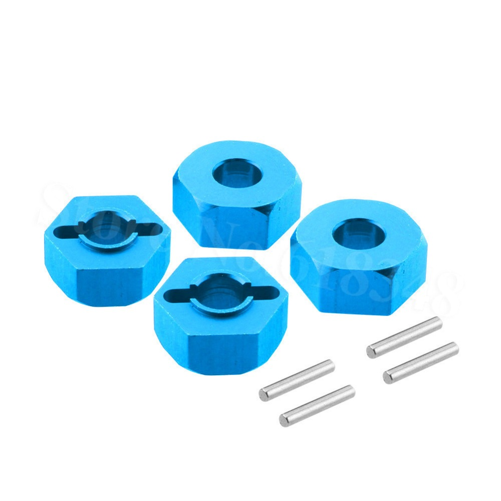 4Pcs Aluminum 12mm <font><b>Wheel</b></font> Hex Drive Hub Adapter 0044 For FY-03 <font><b>WLtoys</b></font> <font><b>12428</b></font> 12423 1/12 Scale RC Car Upgrade Parts image